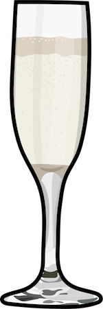 A full glass of Champagne