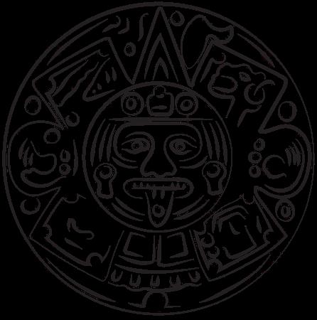 A drawing of an ancient aztec symbol