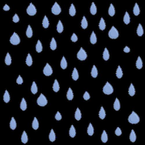 Blue raindrops falling