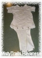 A white snap-on onesie.