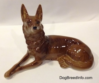 Vintage Shepherd dog made in East Germany with crown mark.
