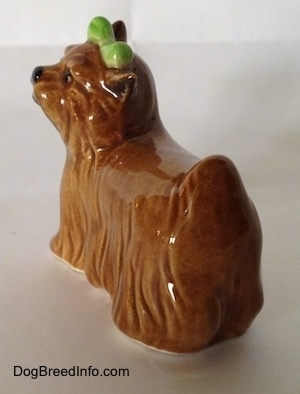Vintage Yorkshire Terrier dog by Goebel from the 1970s. Back side view.